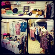 Stalls at the March vintage market