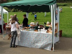 Cake stall at the Egg Rolling