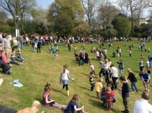 Egg rolling about to start
