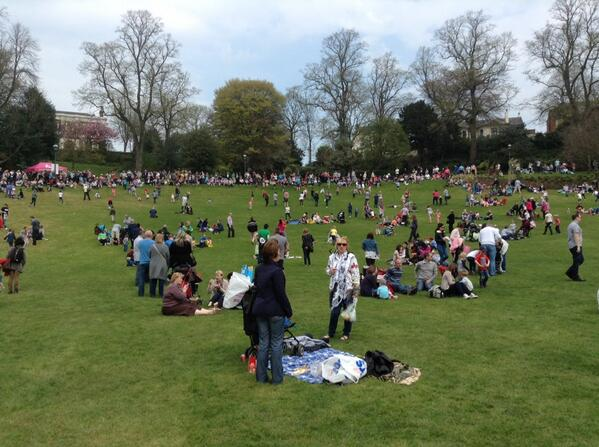 Waiting to start at the Egg Rolling