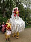 Giant hens walked Avenham Park