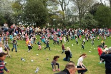 Action at the Egg Rolling