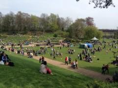 Crowds in Miller Park