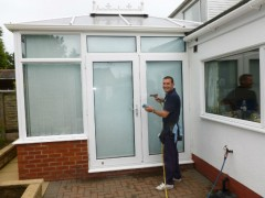 Darren Pomfret runs his own property cleaning firm