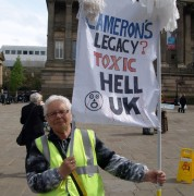 Anti-fracking protests in Preston in April 2014