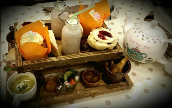 Afternoon tea at Happy Bunnies Pic: Louise Gooch