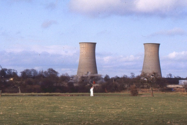 The Courtauld's cooling towers were part of the city's skyline before demolition
