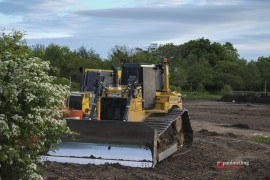 Diggers at work off Cottam Way