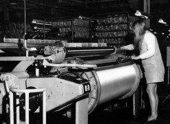 The beam machine in use at Courtaulds