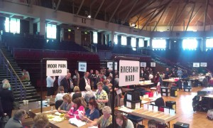 Counting at the Guild Hall for local election 2014