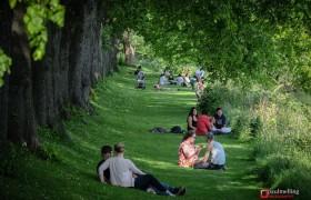 Prestonians enjoying the sunshine by the River Ribble