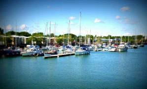 Boats moored in Preston Marina