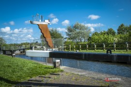 The new statue on the side of the canal