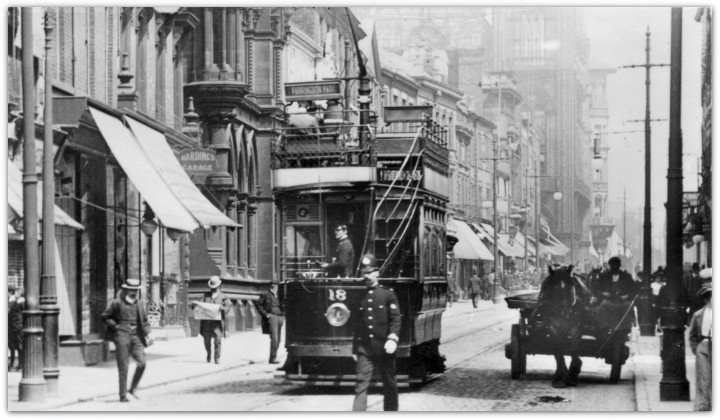 Preston Corporation Tram No.18 Fishergate, Preston 1906