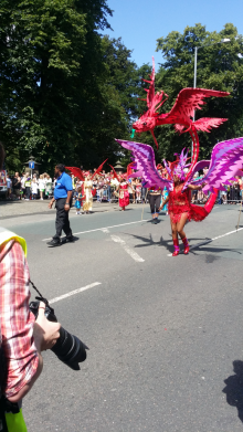 Leading the procession Pic: Jade Speight