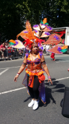 Orange and purple dancer in the parade Pic: Jade Speight