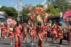 Dazzling carnival procession Pic: Jim Beattie