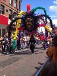 All kinds of costumes made their way through the city centre Pic: Joanne Clitheroe