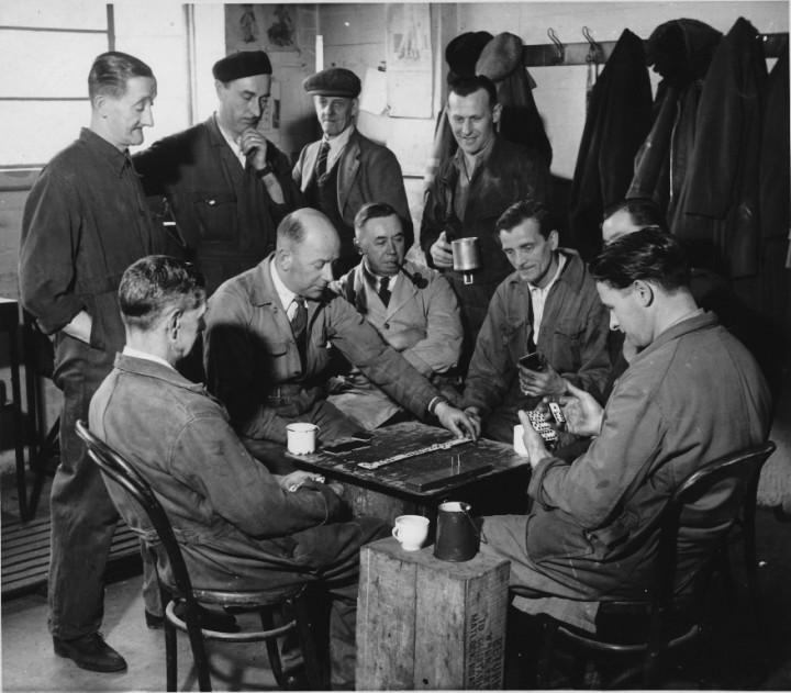 Tea break in the former Courtaulds factory