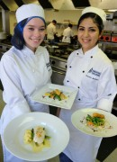 Megan Prince and Krsyta Jimenez with their dishes