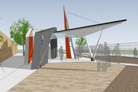 An artists impression of how the tram stop on Deepdale Street would look