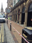 Police cordon on Fishergate on Saturday morning