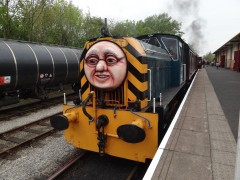 One of the friendly engines at the Ribble Steam Railway
