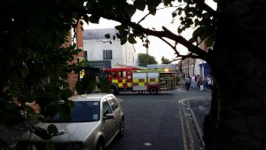 Fire crew on Plungington Road tackling the fire Pic: Suzie Evans