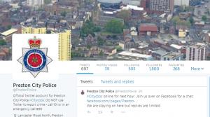 Twitter account of Preston Police