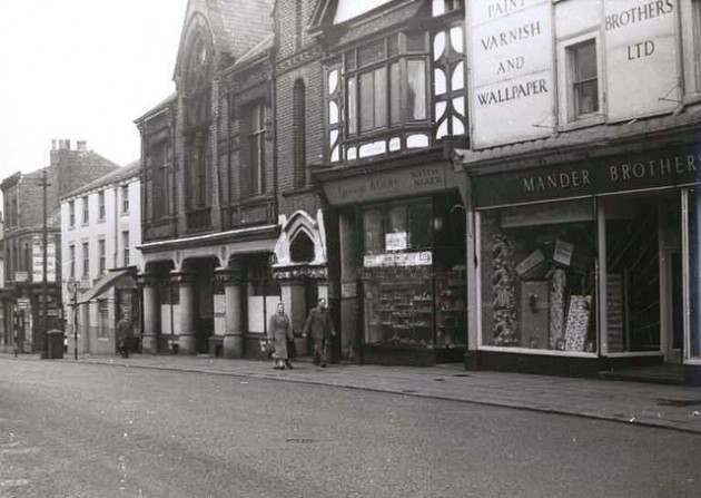 Friargate in 1962 showing the upstairs of the former Plough Inn