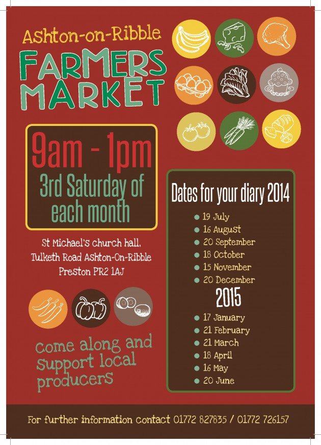 Farmers market Ashton-on-Ribble