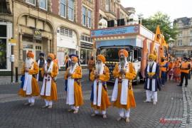 The procession makes its way through Preston