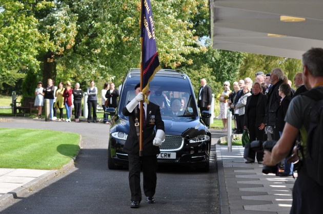The funeral cortege arrives in full honour