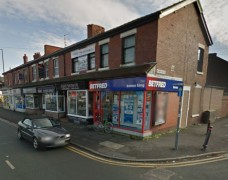 The Betfred bookies on Blackpool Road was targeted