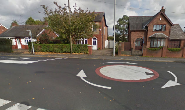 The mini roundabout in Fulwood where the accident happened