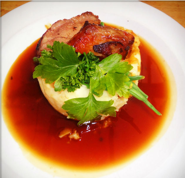The lamb with mash