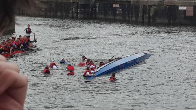 Trouble in the water on Preston Dock