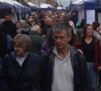 Visitors to the Lancashire Market on Friargate