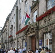 Palestinian flag above the Town Hall on Friday 25 July