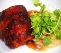 The sticky pork