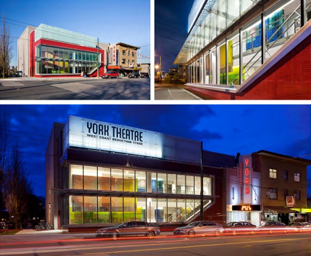 The York Theatre is highlighted by architects as an example of cutting edge modern design