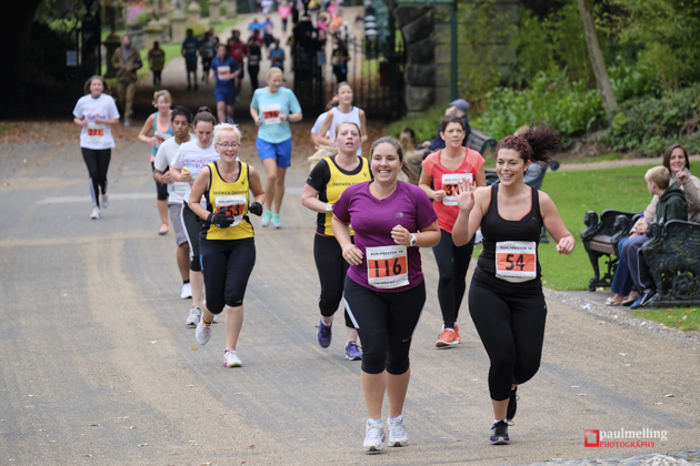 Runners making their way in Avenham Park