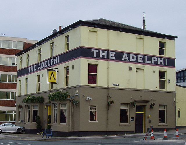The Adelphi pub is close to the university campus in the city
