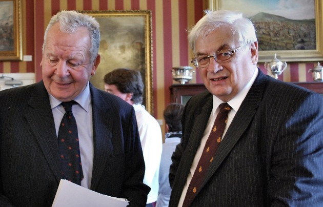 Bill Beaumont and Roger Goodwin talking about the refurbishment of the museum