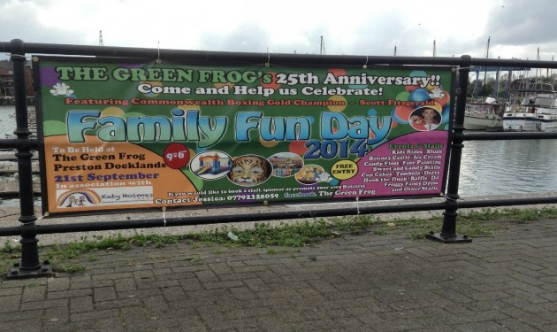Family Fun Day at the Green Frog on the Docklands in Preston