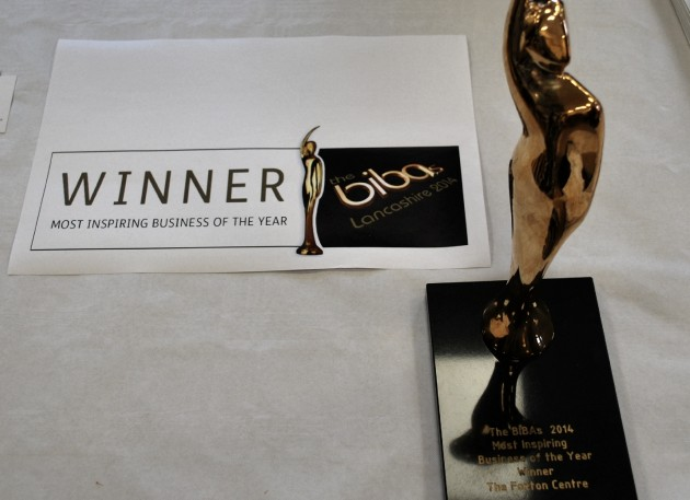 Foxton Centre's BIBA award for 'Most Inspiring Business of the Year'