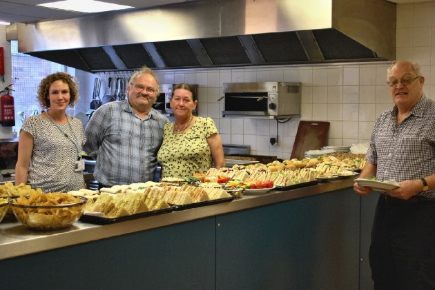 Some of the Foxton Centre volunteers working in the kitchen