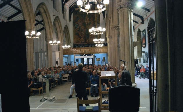 Leader image - audience view from Minster Chancel