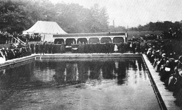 Open Air Baths Opening Ceremony June 7th 1905. Closed In 1971