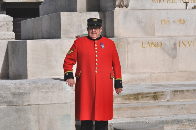Steve in front of Preston War Memorial otherwise known as the Cenotaph